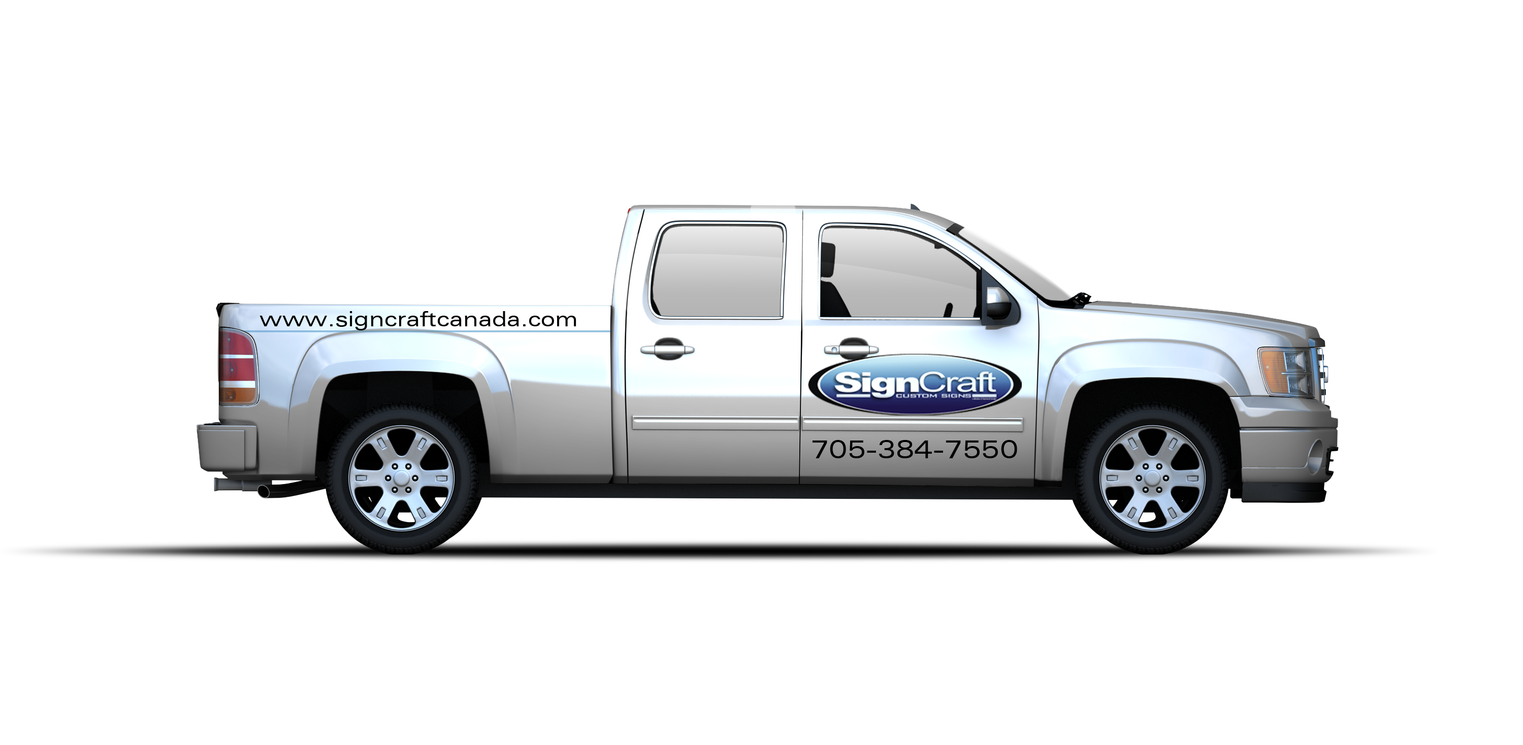 Vehicle graphics signcraft huntsville parry sound for Cheap vehicle lettering
